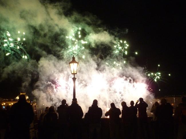 Feuerwerk auf der Karlsbrücke - Prag