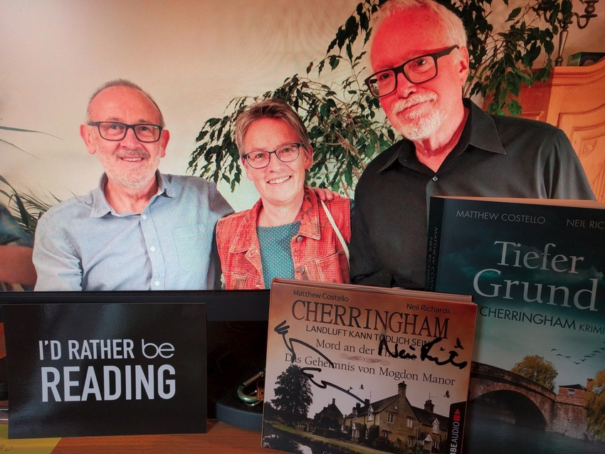 mit Niel Richards und Matt Costello (Cherringham)